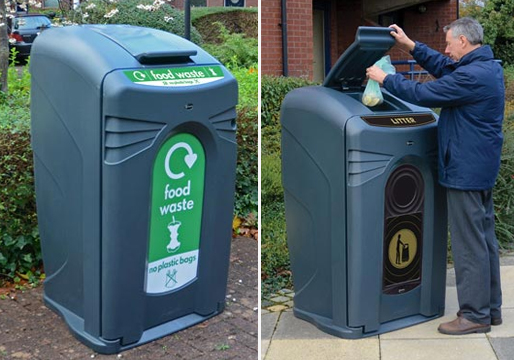 External Litter Bins Plastic