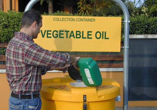 mes ireland waste veg oil bins