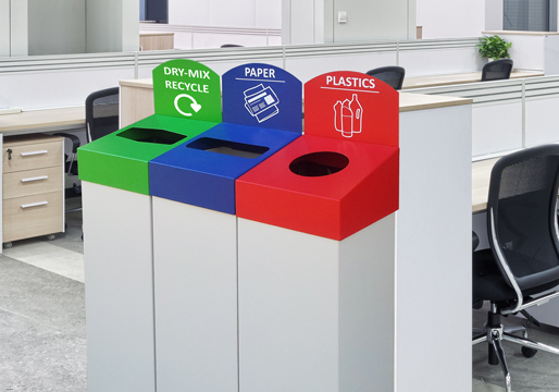 Single Recycling Bins Metal