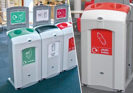 Single Recycling Bins Plastic