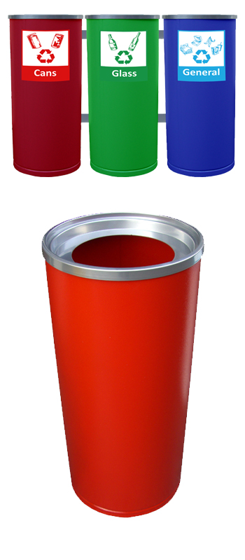 open-round-recycling-bins-metal
