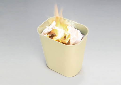 Fire Resistant Wastebaskets