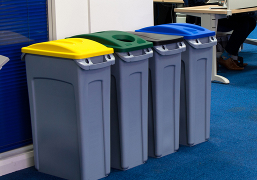 Single Recycling Bins Plastic