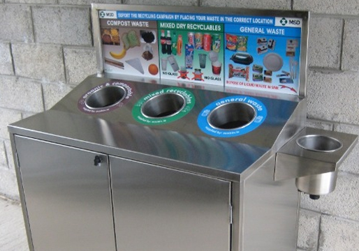 Slim Jim Stainless Recycle Station