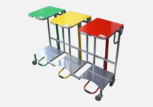 Mobile Open Type Pedal Bins